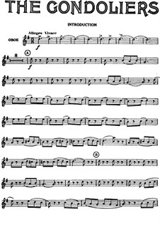 The Gondoliers: Oboe part by Arthur Seymour Sullivan