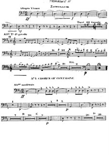 The Gondoliers: Trombone III part by Arthur Seymour Sullivan