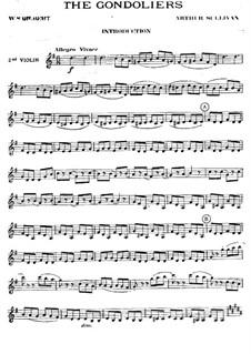 The Gondoliers: Violins II part by Arthur Seymour Sullivan