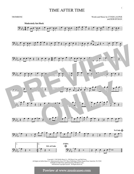 Time after Time: For trombone by Cyndi Lauper, Robert Hyman
