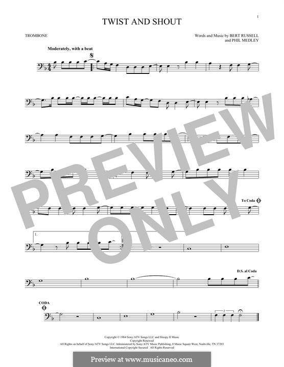 Twist and Shout (The Beatles): For trombone by Bert Russell, Phil Medley