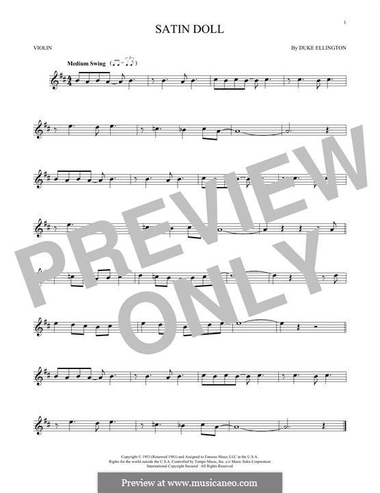 Satin Doll: For violin by Billy Strayhorn, Duke Ellington