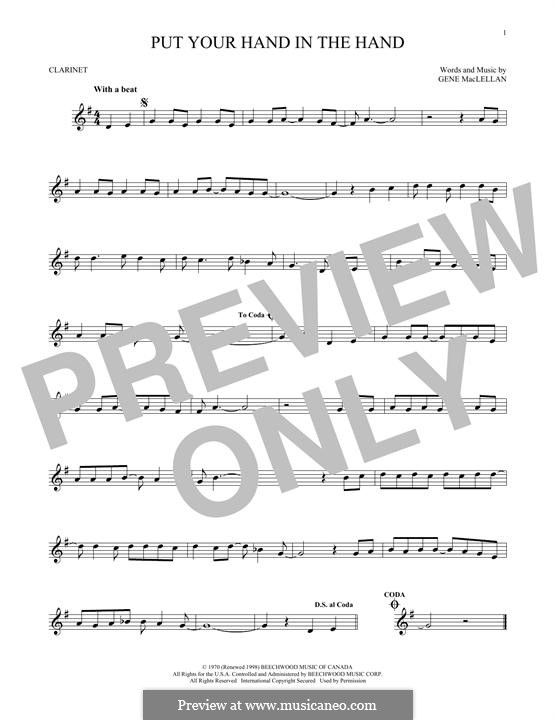 Put Your Hand in the Hand (Ocean): For clarinet by Gene MacLellan