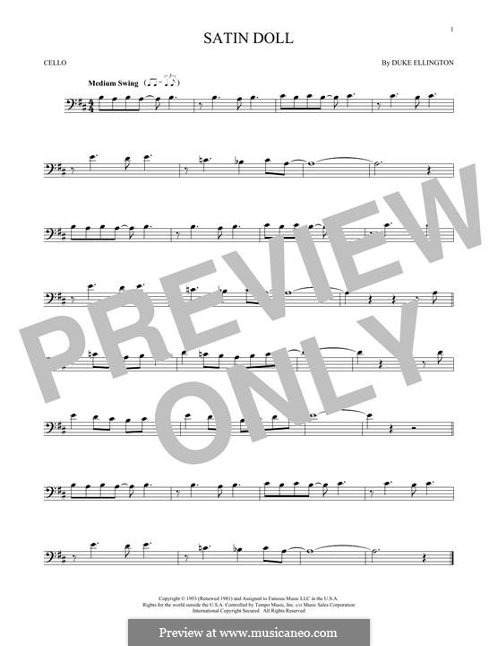 Satin Doll: For cello by Billy Strayhorn, Duke Ellington