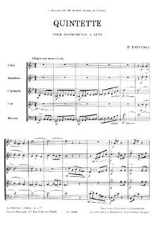 Woodwind Quintet in G Minor: Full score by Paul Taffanel