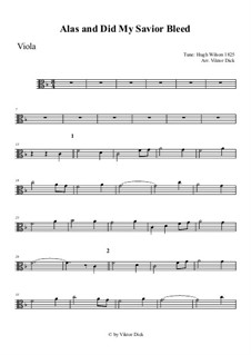 Alas, and Did My Savior Bleed: For viola by Hugh Wilson