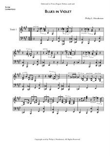 Blues in Violet, Op.27: Blues in Violet by Philip Henderson