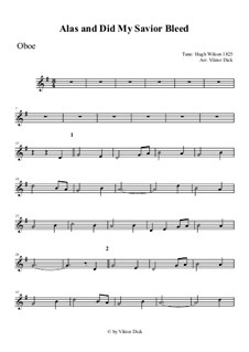 Alas, and Did My Savior Bleed: For oboe by Hugh Wilson