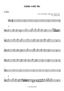 Abide with Me: For cello by William Henry Monk