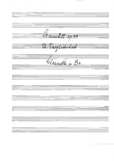 Quintet for Clarinet and Strings in B Flat Major, Op.44: Clarinet part by Thomas Täglichsbeck