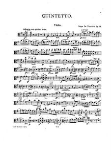 String Quintet No.1 in G Major, Op.14: Viola part by Sergei Taneyev
