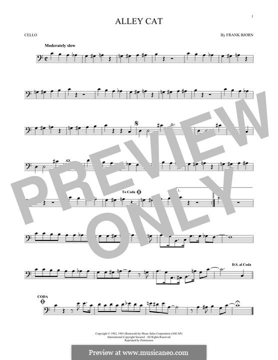 Alley Cat: For cello by Frank Bjorn