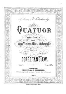 String Quartet No.1 in B Flat Minor, Op.4: Violin I part by Sergei Taneyev