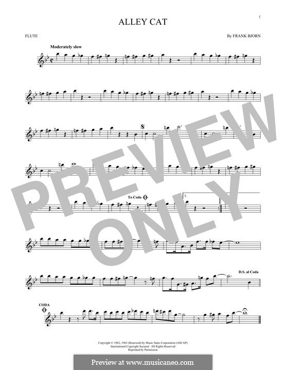 Alley Cat: For flute by Frank Bjorn