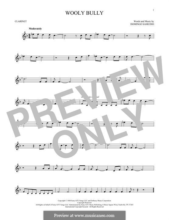 Wooly Bully (Sam the Sham & The Pharaohs): For clarinet by Domingo Samudio