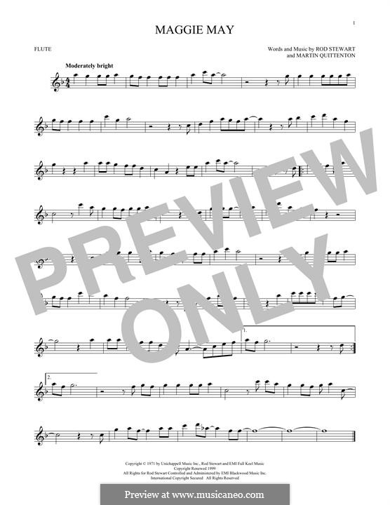 Maggie May: For flute by Martin Quittenton, Rod Stewart