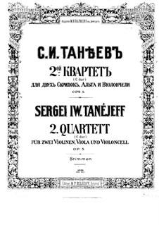 String Quartet No.2 in C Major, Op.5: Violin I part by Sergei Taneyev