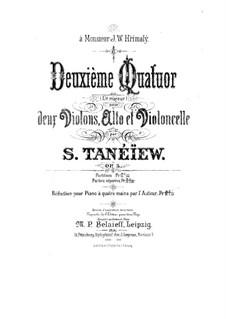 String Quartet No.2 in C Major, Op.5: Cello part by Sergei Taneyev