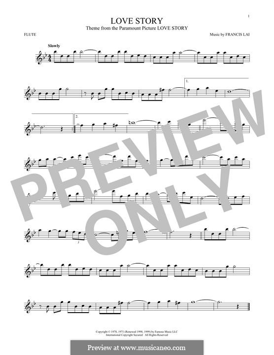 Love Story: For flute by Francis Lai