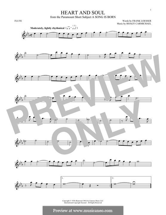 Heart and Soul: For flute by Hoagy Carmichael