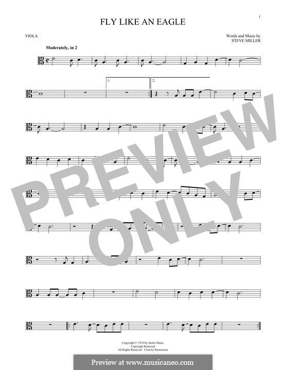 Fly Like an Eagle (Steve Miller Band): For viola by Steve Miller