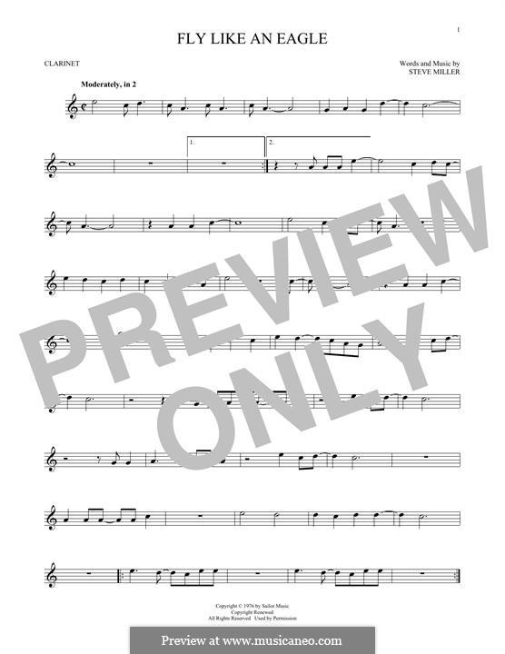 Fly Like an Eagle (Steve Miller Band): For clarinet by Steve Miller