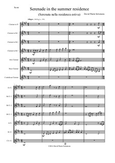 Serenade in the summer residence: For clarinet choir by David W Solomons