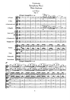 Symphony No.1 in G Minor 'Winter Daydreams', TH 24 Op.13: Movement I by Pyotr Tchaikovsky