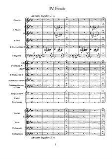 Symphony No.1 in G Minor 'Winter Daydreams', TH 24 Op.13: Movement IV by Pyotr Tchaikovsky