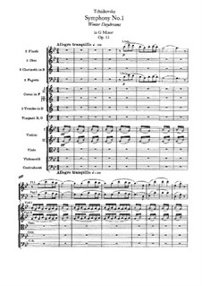 Symphony No.1 in G Minor 'Winter Daydreams', TH 24 Op.13: Full score by Pyotr Tchaikovsky