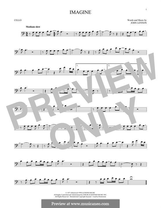 Imagine: For cello by John Lennon