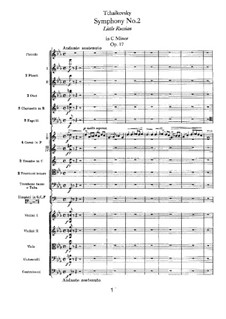 Movement I: Full score by Pyotr Tchaikovsky