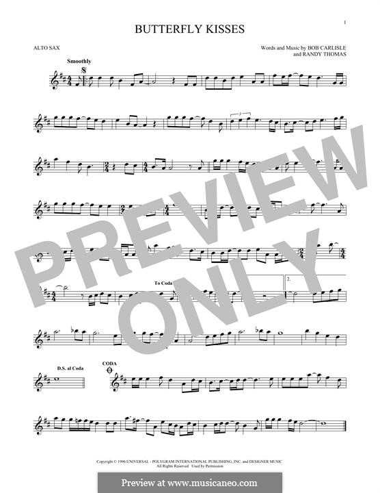 Butterfly Kisses: For alto saxophone by Randy Thomas