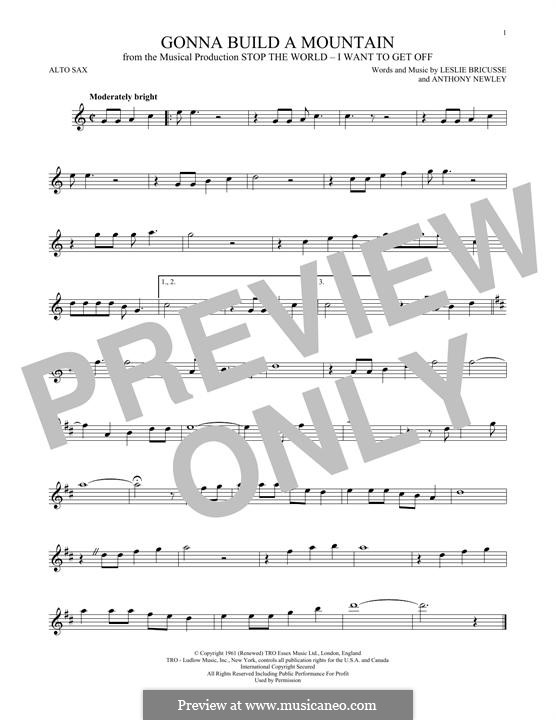 Gonna Build a Mountain: For alto saxophone by Anthony Newley