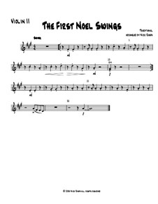 The First Noel Swings: For string orchestra – violin 2 part by folklore