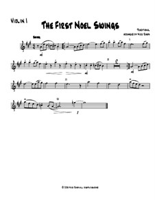 The First Noel Swings: For string orchestra – violin 1 part by folklore