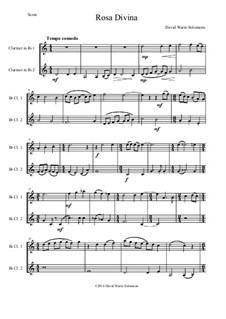Rosa Divina: For two clarinets by David W Solomons