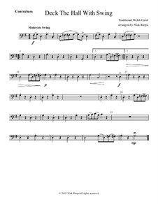 Deck the Hall with Swing: For string orchestra - double bass part by folklore