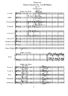 Concerto for Piano and Orchestra No.1 in B Flat Minor, TH 55 Op.23: Movement III by Pyotr Tchaikovsky
