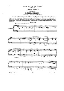 The Voyevoda, TH 1 Op.3: Entr'acte and Dances of the Chambermaids, for piano four hands by Pyotr Tchaikovsky