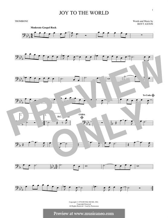Joy to the World (Three Dog Night): For trombone by Hoyt Axton