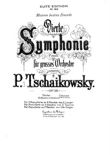 Symphony No.4 in F Minor, TH 27 Op.36: For piano by Pyotr Tchaikovsky