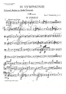 Symphony No.4 in F Minor, TH 27 Op.36: Percussion parts by Pyotr Tchaikovsky