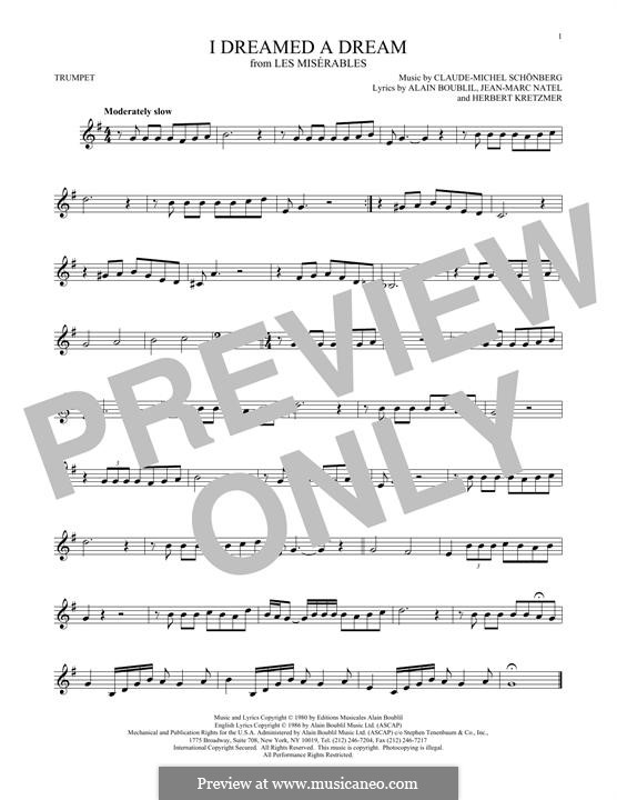 I Dreamed a Dream: For trumpet by Claude-Michel Schönberg