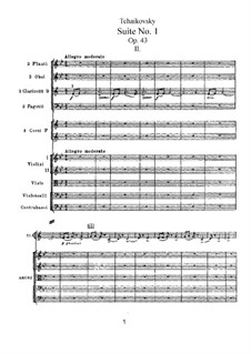 Suite No.1 in D Minor, TH 31 Op.43: No.2 Divertimento by Pyotr Tchaikovsky