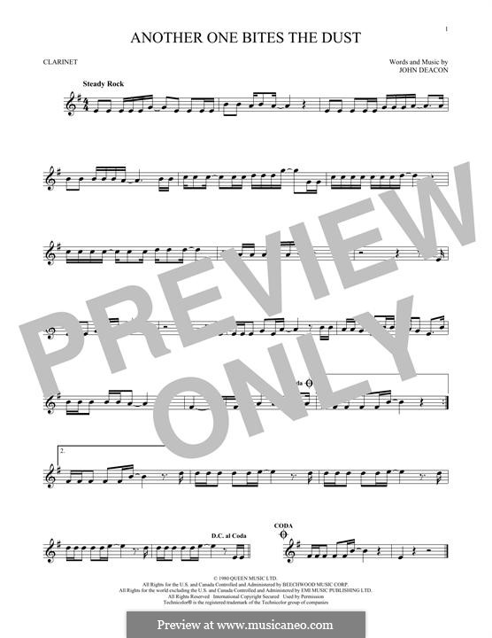 Another One Bites the Dust (Queen): For clarinet by John Deacon