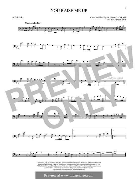 You Raise Me Up: For trombone by Brendan Graham, Rolf Løvland