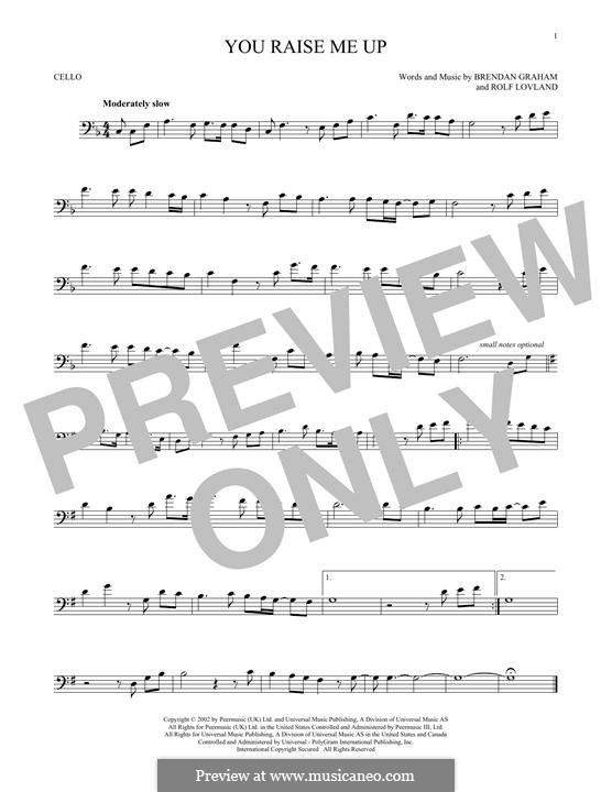 You Raise Me Up: For cello by Brendan Graham, Rolf Løvland