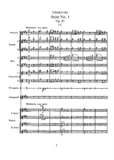 Suite No.1 in D Minor, TH 31 Op.43: No.4 Marche miniature by Pyotr Tchaikovsky