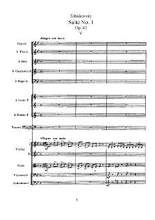 Suite No.1 in D Minor, TH 31 Op.43: No.5 Scherzo by Pyotr Tchaikovsky